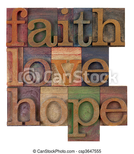 faith, love and hope - csp3647555