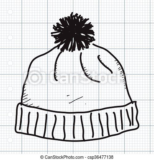 Vectors Of Simple Doodle Of A Bobble Hat Simple Hand