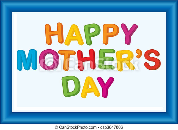 Mother\'s day message - csp3647806