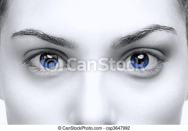 Female blue eyes - csp3647992
