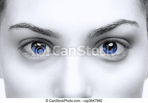 Female blue eyes - csp3647992