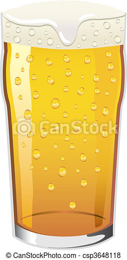 Vector pint of beer - csp3648118