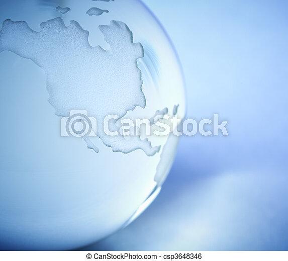 vidro, mundo - csp3648346