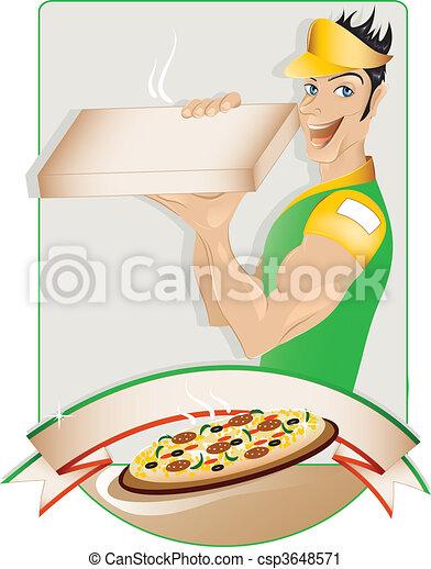 Pizza delivery boy - csp3648571