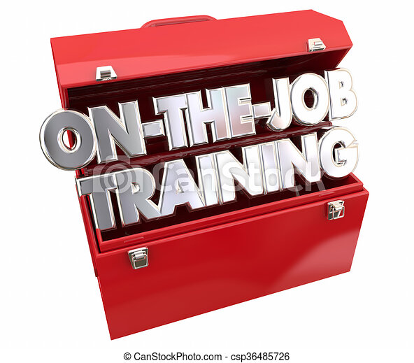Clip Art of On the Job Training Tools Toolbox Learning ...
