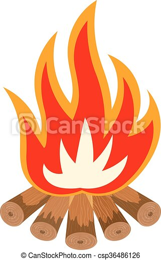 illustration vecteur de concept couleur feu camping bois fossile carburants. Black Bedroom Furniture Sets. Home Design Ideas