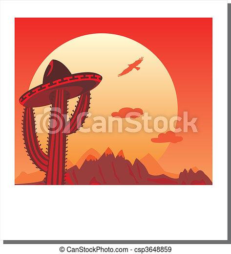 Vector Photo frame - Go Mexico - csp3648859