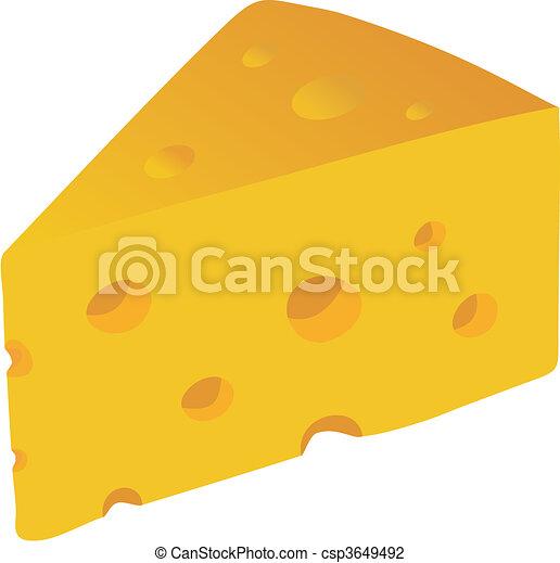 Swiss Cheese vector illustration - csp3649492