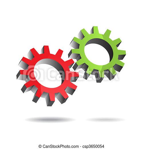 Gears turning - csp3650054