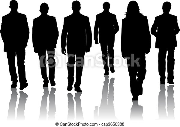Silhouette fashion men...