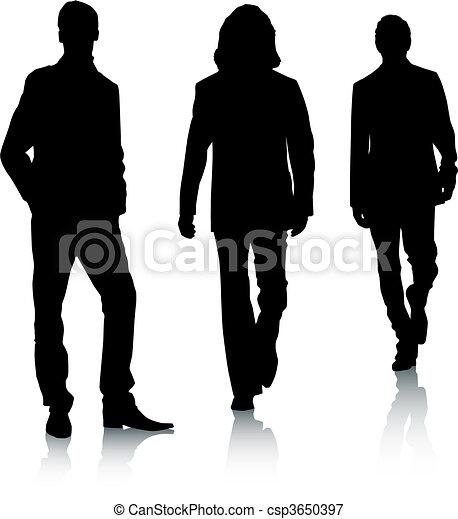 Silhouette fashion men - csp3650397