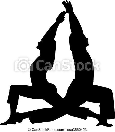 Couple yoga - csp3650423