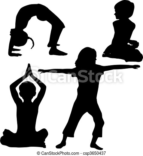 Kids yoga - csp3650437