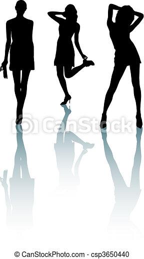 Silhouette fashion girls - csp3650440