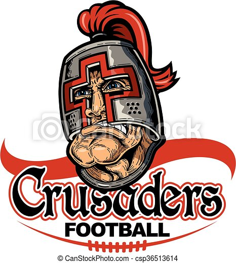 Vector Clip Art of crusaders football team design with ...