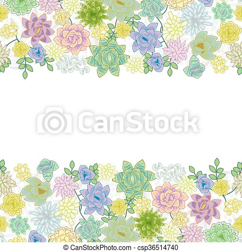 Garden border Clipart and Stock Illustrations 24853 Garden