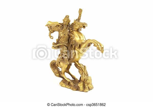 Kuan, kung, chino, dios, guerra - csp3651862