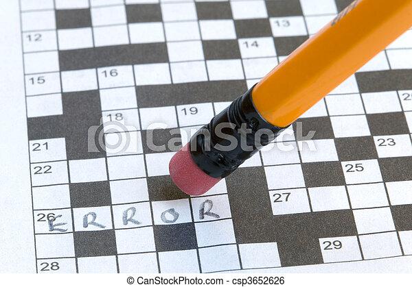 Crossword Error - csp3652626