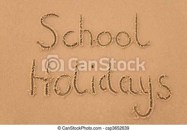School holidays in sand - csp3652639