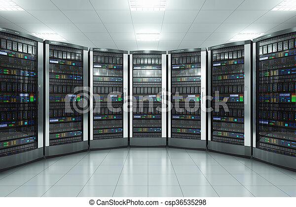 Server room in datacenter - csp36535298