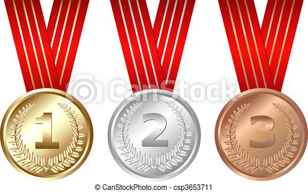 Three Medals - csp3653711