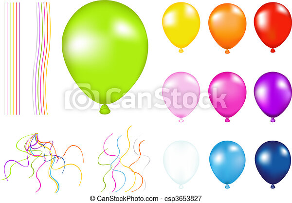 Colorful Balloons - csp3653827