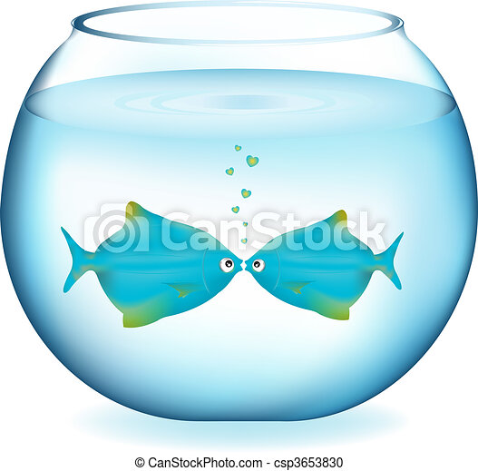 Kissing Fishes - csp3653830
