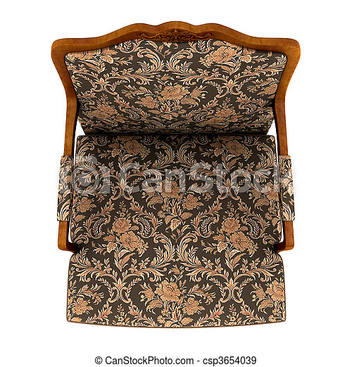 Stock Photographs Of Classic Armchair Isolated On The