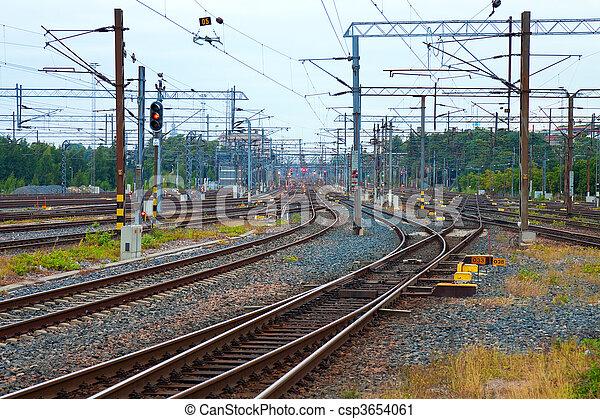Railroad communication  - csp3654061
