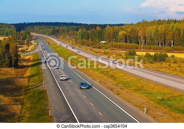 Autobahn traffic - csp3654104