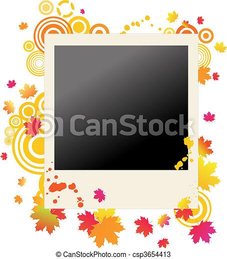 Autumnal grunge polaroid - csp3654413