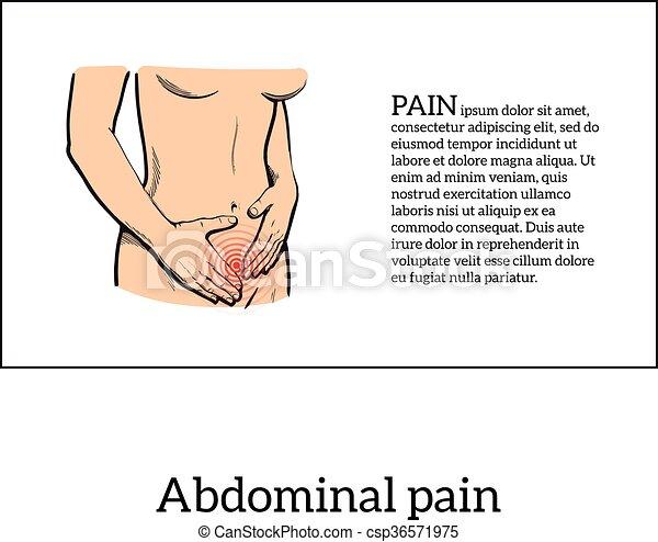 Menstrual pain in the women concept - csp36571975