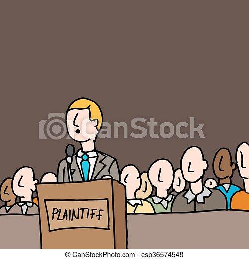 Vettore eps di standing giuria plaintive corte un for Piani di garage free standing