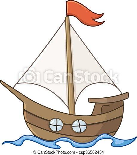 Vecteur clipart de voilier dessin anim sailboat dessin anim csp36582454 recherchez des - Voilier dessin ...