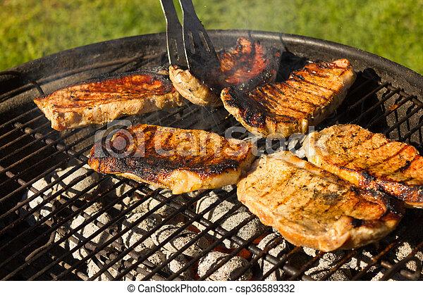 stock photos of grillen barbecue grillen im somme. Black Bedroom Furniture Sets. Home Design Ideas