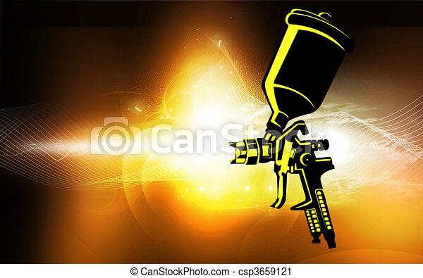 Spray Gun Drawing Spray Gun Csp3659121