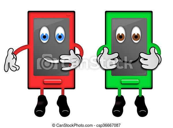 Phone Characters - csp36667087