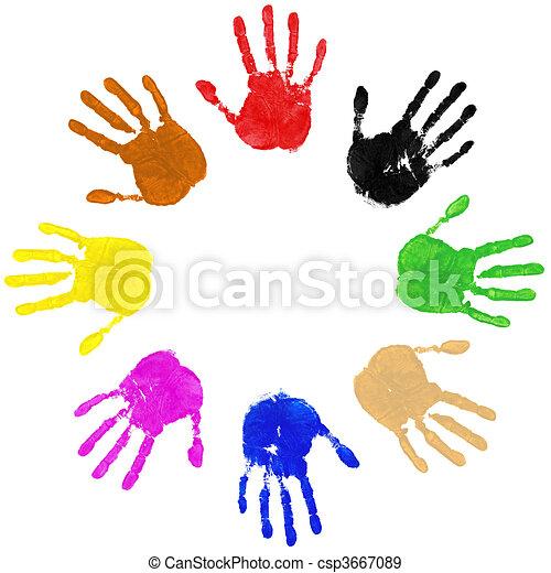 Hands Circle - csp3667089