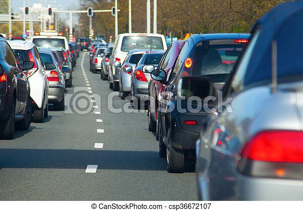 traffic jam - csp36672107