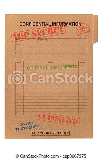 Top Secret Confidential file - csp3667375