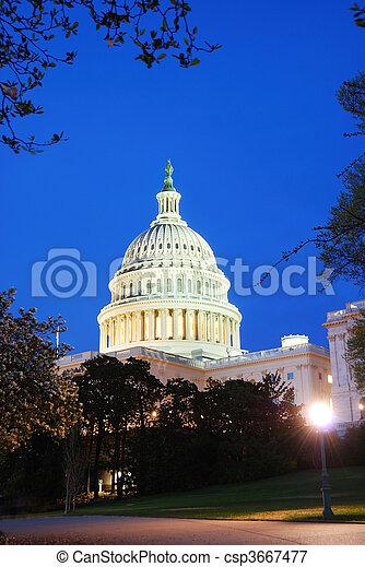 Capitol building closeup, Washington DC - csp3667477