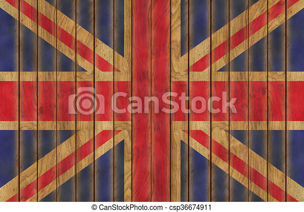 Wooden British Flag - csp36674911
