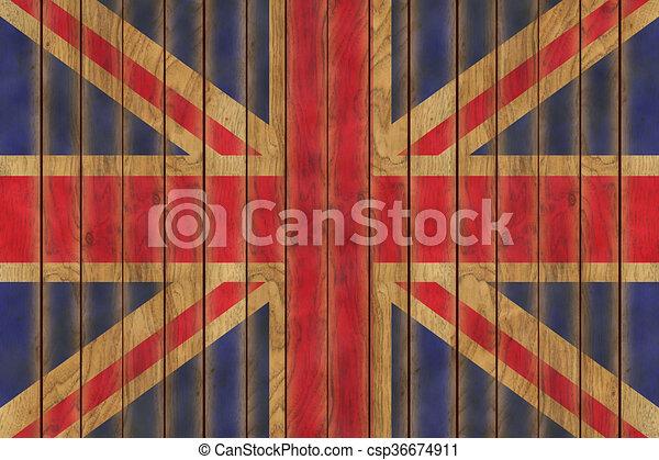 Wooden British Flag - csp36674911
