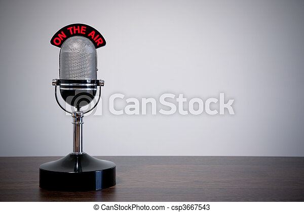 Retro Desk Microphone - csp3667543