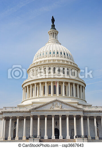 Capitol Dome, Washington DC. - csp3667643