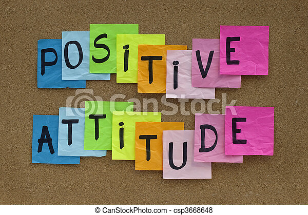 positive attitude reminder  - csp3668648