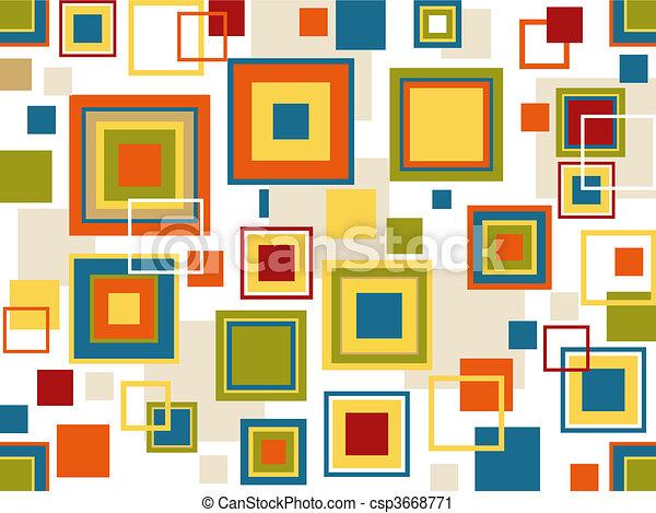 Retro Seamless Squares Background - csp3668771