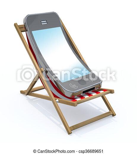Illustrations de chaise smartphone plage dessin anim for Chaise 3d dessin