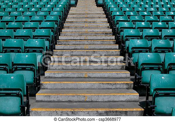 Sports stadium steps - csp3668977
