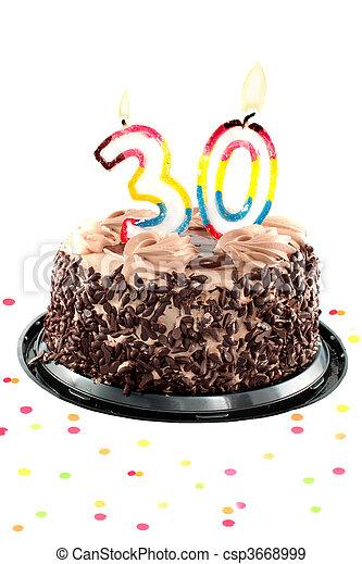 Thirtieth birthday or anniversary - csp3668999